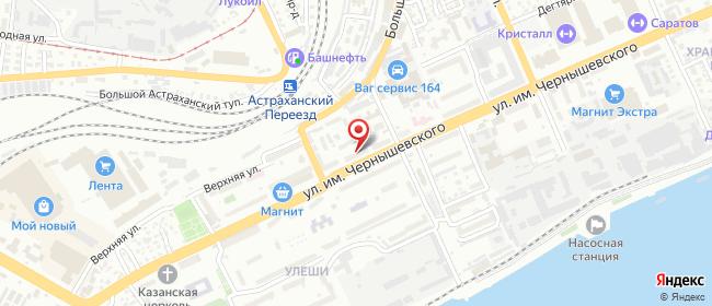 Карта расположения пункта доставки Саратов Чернышевского в городе Саратов