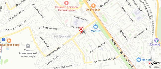 Карта расположения пункта доставки 1-ая Дачная в городе Саратов