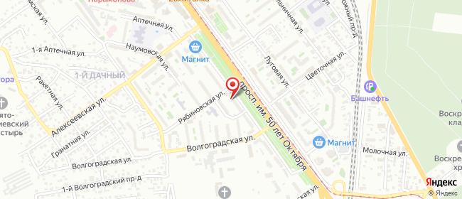Карта расположения пункта доставки Саратов 50 лет Октября в городе Саратов