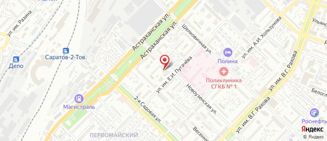 Карта расположения пункта доставки Саратов Новоузенская в городе Саратов