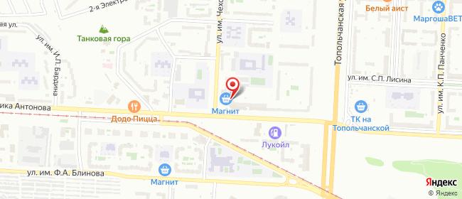 Карта расположения пункта доставки Ростелеком в городе Саратов