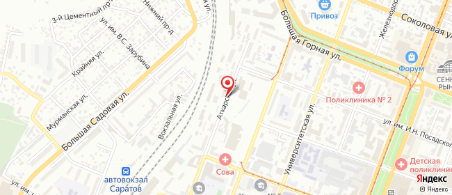 Карта расположения пункта доставки Билайн в городе Саратов