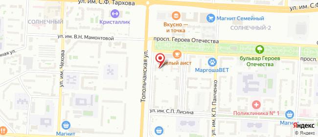 Карта расположения пункта доставки Мкр-н Солнечный в городе Саратов