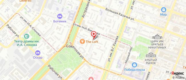 Карта расположения пункта доставки На Пугачева в городе Саратов