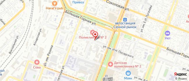 Карта расположения пункта доставки Саратов им Посадского И.Н. в городе Саратов