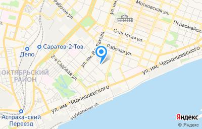 Местоположение на карте пункта техосмотра по адресу г Саратов, пл Ильинская, д 5