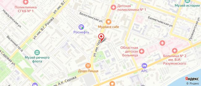 Карта расположения пункта доставки Саратов им Чапаева В.И. в городе Саратов