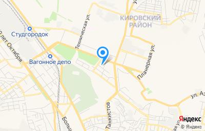 Местоположение на карте пункта техосмотра по адресу г Саратов, ул Зенитная, д 14 стр е