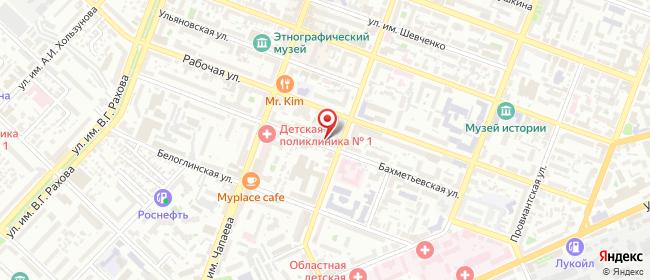 Карта расположения пункта доставки На Бахметьевской в городе Саратов