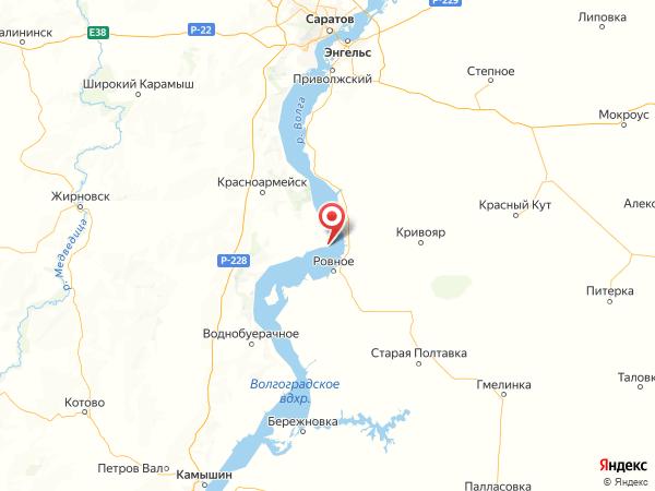 село Дубовка на карте
