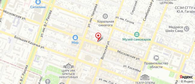 Карта расположения пункта доставки Саратов Московская в городе Саратов
