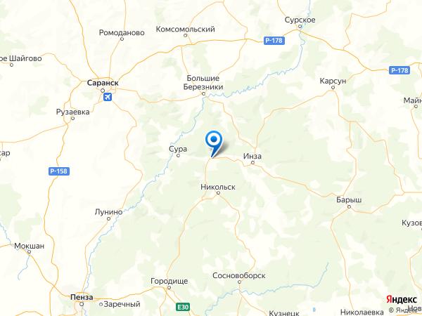 село Маис на карте