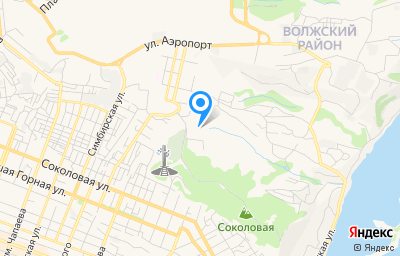 Местоположение на карте пункта техосмотра по адресу г Саратов, тер Соколовая гора