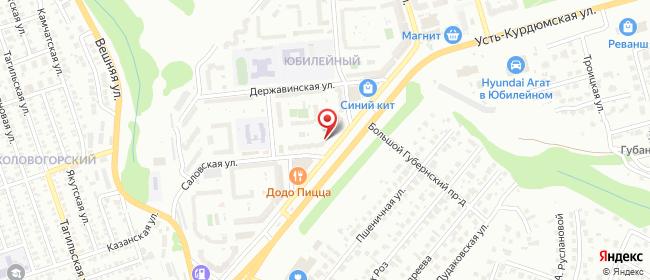 Карта расположения пункта доставки Саратов Усть-Курдюмская в городе Саратов