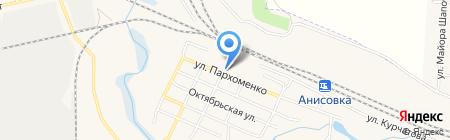 Магазин овощей и фруктов на карте Анисовского