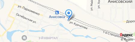 Линейное отделение полиции на ст. Анисовка на карте Анисовского