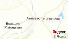 Гостиницы города Атяшево на карте