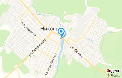 Местоположение на карте пункта техосмотра по адресу Пензенская обл, г Никольск, ул Л.Толстого, д 2