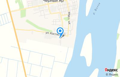 Местоположение на карте пункта техосмотра по адресу Астраханская обл, с Черный Яр, ул Костякова, влд 7