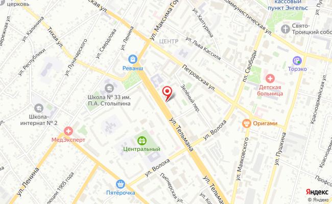 Карта расположения пункта доставки Энгельс Тельмана в городе Энгельс