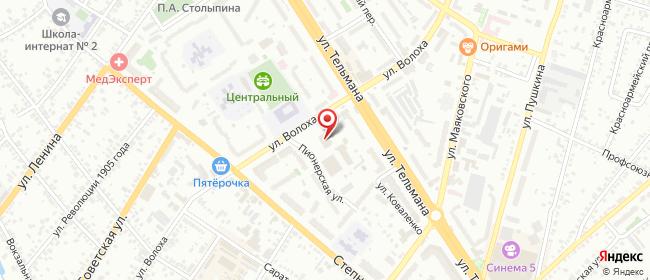 Карта расположения пункта доставки Ростелеком в городе Энгельс