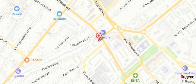 Карта расположения пункта доставки На Комсомольской в городе Энгельс