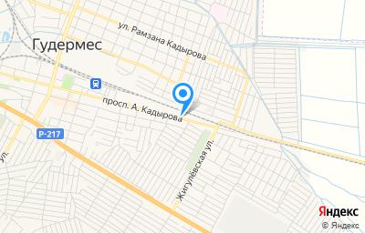 Местоположение на карте пункта техосмотра по адресу Респ Чеченская, г Гудермес, пр-кт А.Кадырова