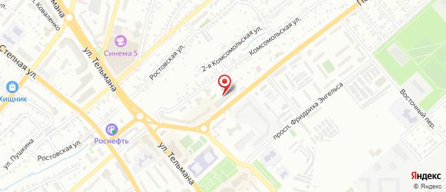 Карта расположения пункта доставки Халва в городе Энгельс