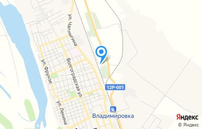 Местоположение на карте пункта техосмотра по адресу Астраханская обл, г Ахтубинск, ул 2-я Железнодорожная, стр 2