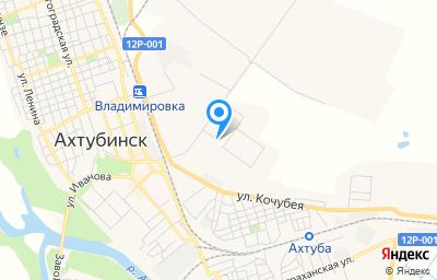 Местоположение на карте пункта техосмотра по адресу Астраханская обл, г Ахтубинск, ул Конструкторская, д 1