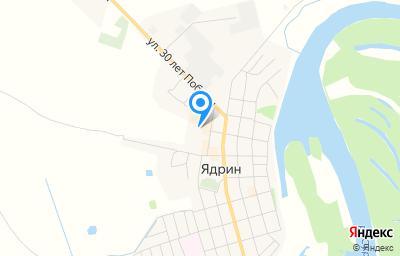 Местоположение на карте пункта техосмотра по адресу Чувашская Республика - Чувашия, г Ядрин, ул Садовая, зд 19А