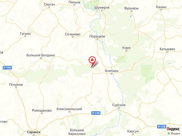 посёлок Октябрьский на карте