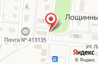 Схема проезда до компании Почтовое отделение в Лощинном