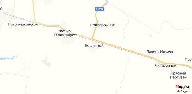 Лощинный на карте