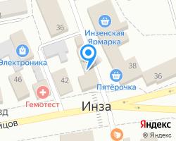 Схема местоположения почтового отделения 433030