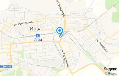 Местоположение на карте пункта техосмотра по адресу Ульяновская обл, г Инза, ул Вокзальная, д 18Л