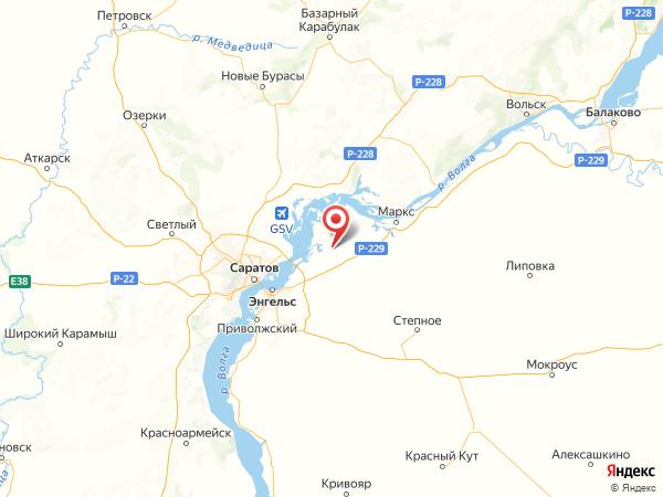 село Красный Яр на карте