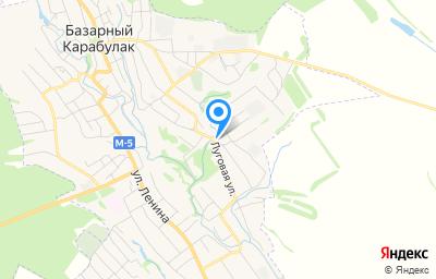 Местоположение на карте пункта техосмотра по адресу Саратовская обл, рп Базарный Карабулак, ул Луговая, д 37
