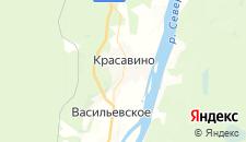 Гостиницы города Красавино на карте