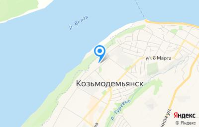 Местоположение на карте пункта техосмотра по адресу Респ Марий Эл, г Козьмодемьянск, ул Некрасова, д 61А