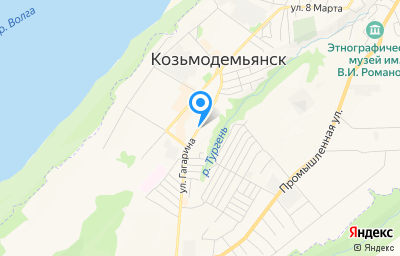 Местоположение на карте пункта техосмотра по адресу Респ Марий Эл, г Козьмодемьянск, ул Гагарина, д 49