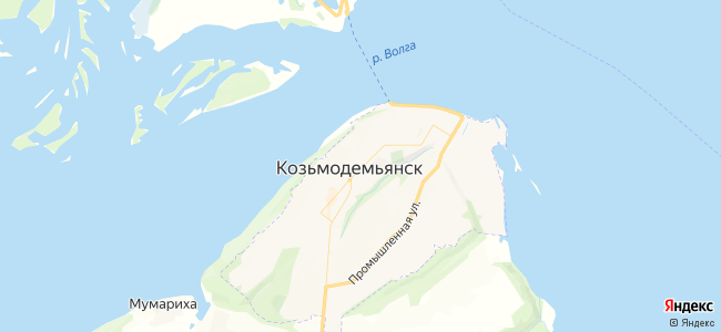Козьмодемьянск - объекты на карте