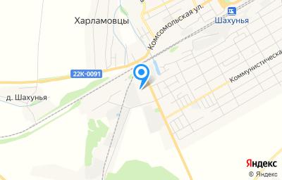 Местоположение на карте пункта техосмотра по адресу Нижегородская обл, г Шахунья, ул Яранское шоссе, д 4