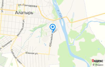 Местоположение на карте пункта техосмотра по адресу Чувашская Республика - Чувашия, г Алатырь, ул Юбилейная, д 9