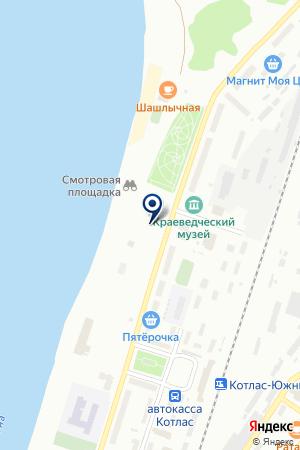 АВАРИЙНО-РЕМОНТНОЕ ПРЕДПРИЯТИЕ на карте Котласа