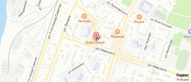 Карта расположения пункта доставки Westfalika в городе Котлас