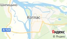 Гостиницы города Котлас на карте