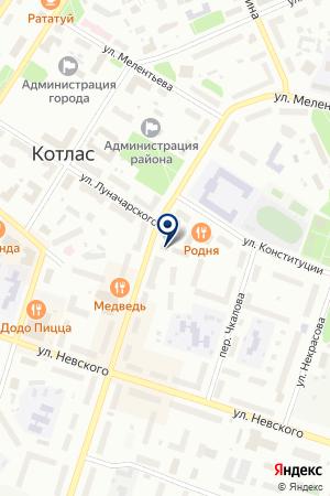 НЕФТЕСКЛАД АЗС МОСТСЕРВИС-ТРАНС на карте Котласа