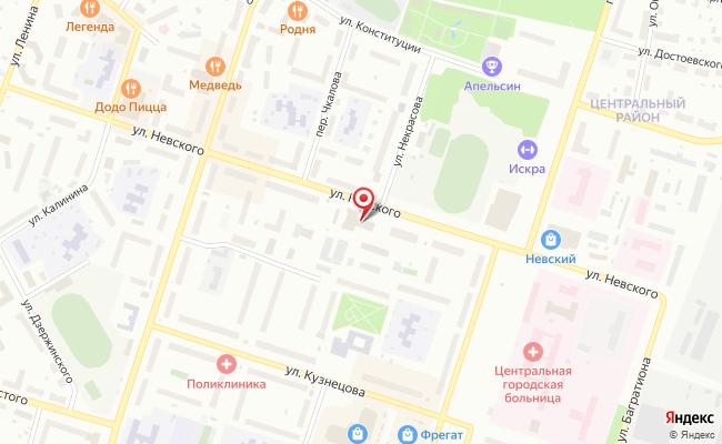 Карта расположения пункта доставки Ростелеком в городе Котлас