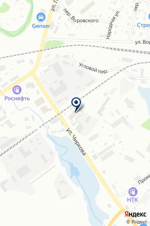 МАГАЗИН СТРОЙМАТЕРИАЛЫ на карте Котласа
